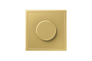 LS 990 Rotary Dimmer in classic brass  by  JUNG