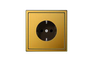 LS 990 SCHUKO-Steckdose in 24 karat gold  von  JUNG