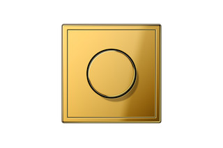 LS 990 Rotary Dimmer in gold  by  JUNG