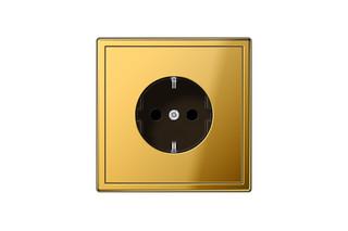 LS 990 SCHUKO-Socket in gold  by  JUNG