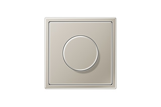 LS 990 Rotary Dimmer in stainless steel  by  JUNG