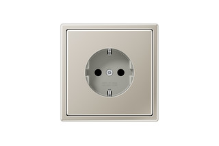 LS 990 SCHUKO-Socket in stainless steel  by  JUNG