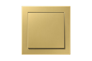 LS Design Switch in classic brass  by  JUNG