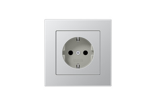 A 550 SCHUKO-Socket aluminium  by  JUNG