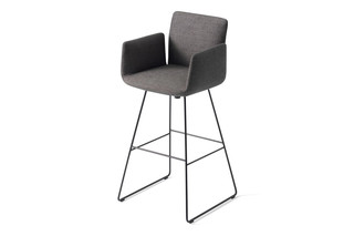 Jalis bar stool with armrests  by  COR