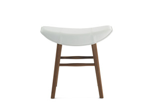 Kya stool seat with wooden frame  by  Freifrau