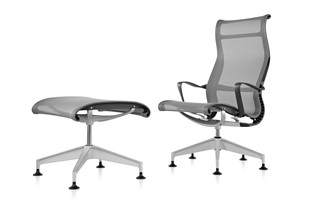 Setu Lounge Chair and Ottoman  by  Herman Miller