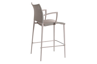Sand Air bar stool with armrests  by  Desalto