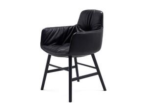 Leya armchair high with wooden frame round  by  Freifrau