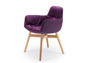 Leya armchair high with wooden frame cross  by  Freifrau