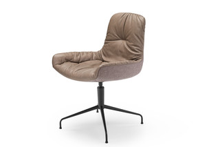 Leya armchair low with trestle leg  by  Freifrau
