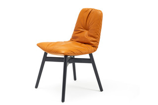Leya chair with wooden frame cross  by  Freifrau