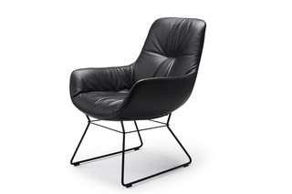 Leya cocktail lounge chair with wire frame  by  Freifrau