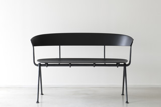 OFFICINA bench with backrest  by  Magis