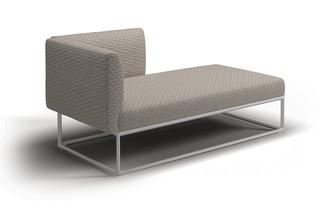 Maya Rechtes Chaise Modul  von  Gloster Furniture