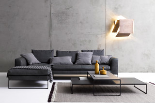 Mell lounge mit loose seat cushions  by  COR