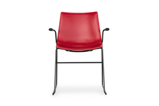 Nava skid-frame chair with armrests  by  Girsberger