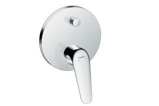 Novus Single lever bath mixer for concealed installation with integrated safety combination according to EN 1717  by  Hansgrohe