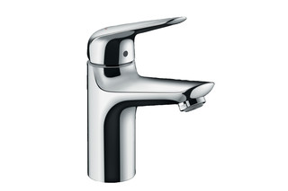 Novus Single lever basin mixer 100 for vented hot water cylinders with push-open waste set  by  Hansgrohe