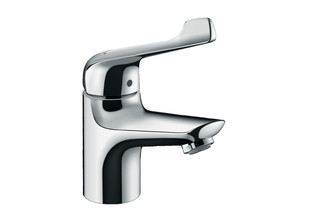 Novus single-lever basin mixer 70 with extra long handle and pop-up waste  by  Hansgrohe