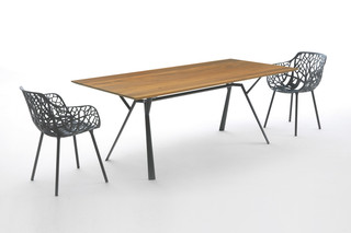 Radice Quadra rectangular table teak  by  Fast
