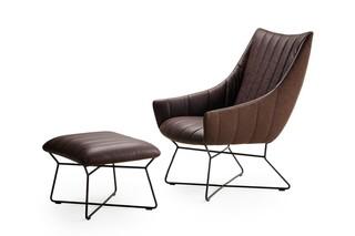 Rubie Lounge Chair with wire frame  by  Freifrau