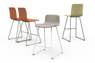 Sola bar stool with sled base, non-stackable  by  Martela