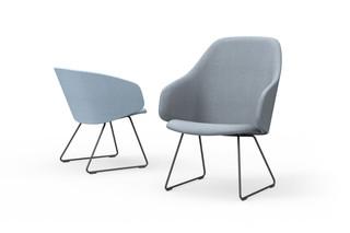 Sola Lounge Chair mit Armlehnen und Kufen  von  Martela