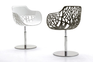 Forest swiveling armchair  by  Fast