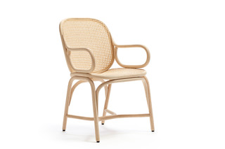 Frames dining armchair with rattan legs T041 R  by  Expormim