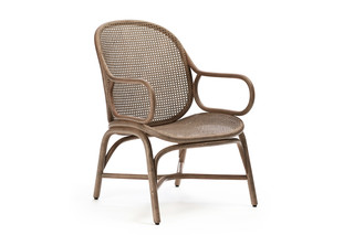 Frames low backrest armchair with rattan legs T051 R  by  Expormim
