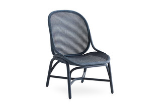 Frames low backrest armchair with rattan legs T052 R  by  Expormim