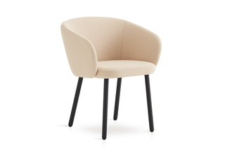 Huma upholstered dining armchair with metal legs T071 M  by  Expormim