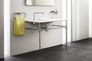 Istanbul washbasin with metal rack  by  VitrA Bathroom