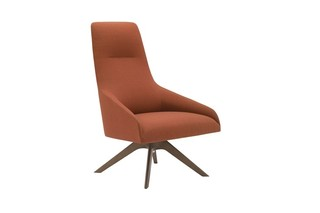 Alya wooden base lounge chair  by  Andreu World