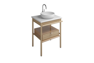 MYA ceramic washbasin incl. vanity unit and 1 drawer  by  burgbad