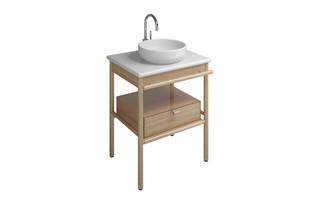 MYA Keramik-Aufsatzwaschtisch mit Waschtischunterschrank und 1 Schublade  von  burgbad
