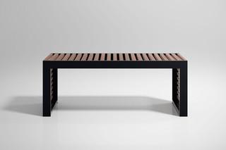 DNA Teak bench  by  Gandia Blasco