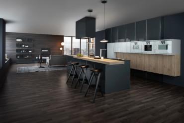 leicht hat für einen neubau eine wohnküche entworfen. | stylepark - Leicht Küchen Katalog