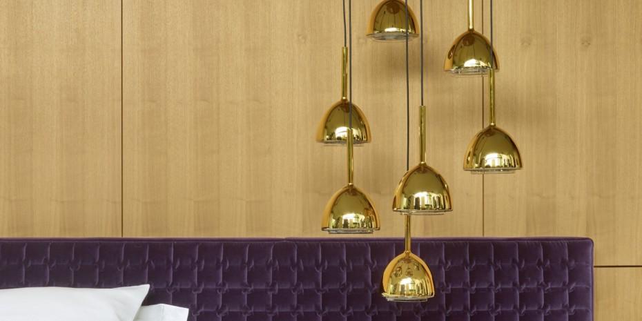 Brass Bell Suspeding Lamp By Ligne Roset Stylepark