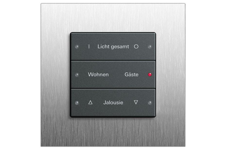 Esprit push button sensor basic 3, 3-gang