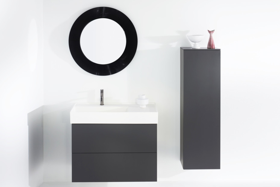 Kartell by Laufen vanity unit with two drawers