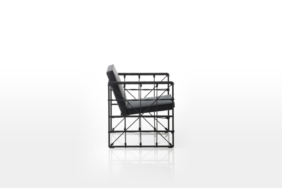 Grace armchair with cut-outs