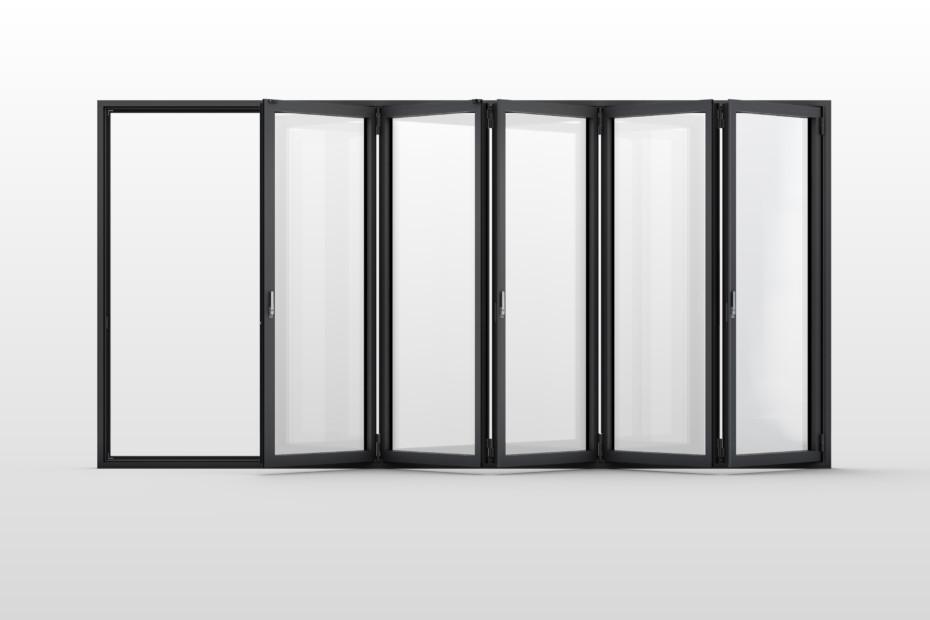 Glas-Faltwand