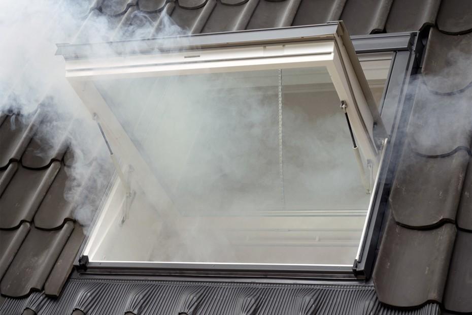 Smoke and heat vent window