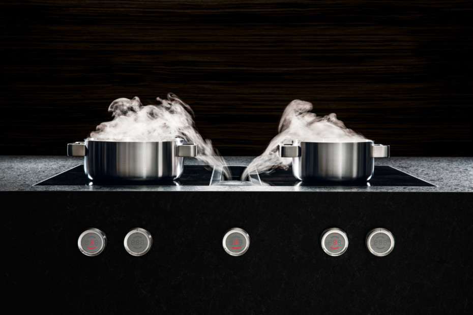 BORA Professional 2.0 surface induction glass ceramiccooktop with 2 cooking zones