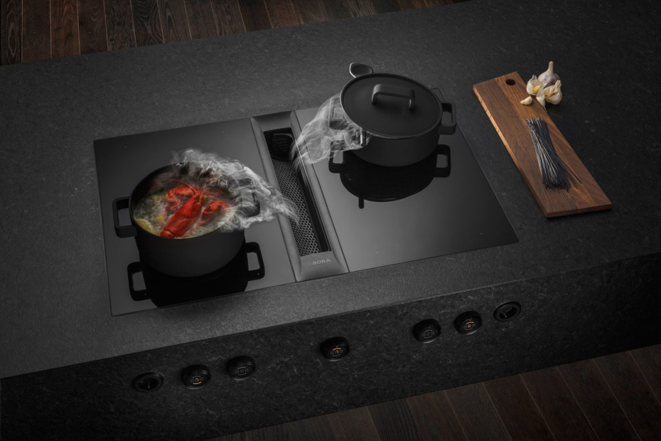 BORA Professional 2.0 cooktop extractor system with integrated fan