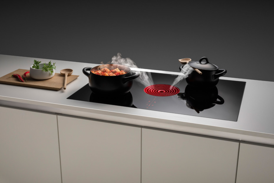 BORA Pure - Induction glass ceramic cooktop with integrated cooktop extractor - Exhaust air PURA