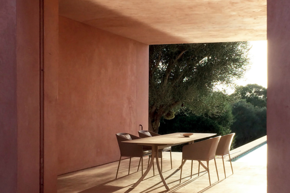 Falcata Outdoor rectangular dining table C926