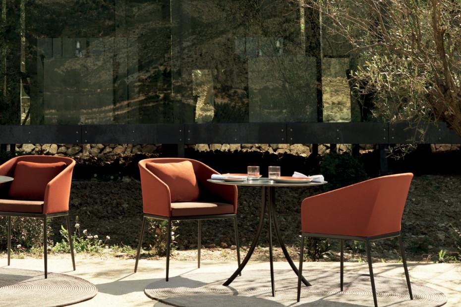 Bistro Outdoor Tisch mit runder Platte C904 R